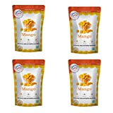 FZYEZY Natural Freeze Dried Mango Fruit for Kids and Adults   Camping Vegan snacks dried Healthy Fruit   Survival food  freeze-dried fruits slices Pantry groceries dehydrated snacks 2.82 oz (80 gm) Pack of 4 20gm each