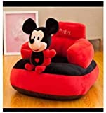 ESTON soft cotton fiber Products Chick Shaped Baby Sitter & Soft Sofa | Rocking Chair for Kids | Soft Plush Cushion Chair for Boys and Girls (Black and RED)
