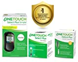 OneTouch Select Plus Simple Glucometer Exclusive Discounted Pack(FREE : 10 strips + 10 lancets + 1 lancing device) + Additional OneTouch Delica Plus 25's Lancets Free worth Rs.160