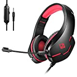 Cosmic Byte Stardust Wired Headset with Flexible Mic for PS5, PS4, Xbox One, Xbox Series 5, Laptop, PC, iPhone and Android Phones (Black/Red)
