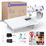 KPCB Tech Sewing Machine with Extension Table and Free Sewing KIT Worth RS 1000 Exclusively for Sewing Machine,Double Thread Mode with Speed Control Beginner Friendly