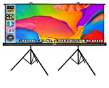 Inlight Two Tripod Type Projector Screen, Size: - 9 Ft. x 5 Ft.(in 16:9 Format Viewing) Imported HIGH GAIN Fabric with 1.2 GAIN