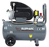 Elephant Lubricated Air Compressor 30 Litre Copper 100% Copper Winding (Grey)