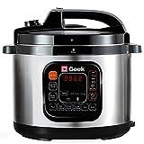 Geek Robocook Zeta 5 litre Electric Pressure Cooker with SS Pot, Black