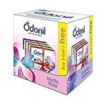 Odonil Bathroom Air Freshener Blocks , Mixed Fragrances -75gm ( Buy 3 Get 1 Free)