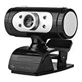 Zebronics Zeb-Ultimate Pro (Full HD) 1080p/30fps Webcam with 5P Lens, Built-in Mic, Auto White Balance, Night Vision, Manual Switch for LED (Black)