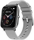 Fire-Boltt SpO2 Full Touch 1.4 inch Smart Watch 400 Nits Peak Brightness Metal Body 8 Days Battery Life with 24*7 Heart Rate Monitoring IPX7 with Blood Oxygen, Fitness, Sports & Sleep Tracking (Grey)