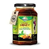 Zandu Pure Honey with Cinnamon, Green Tea & Lemon, 100% Purity, No Added Sugar, 500g