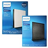 Air Philips 2000 Series HEPA +CARBON set ( FY 2422 + FY 2420 ) White & Black For Model AC2887 / AC 2882