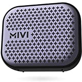 Mivi Roam 2 Wireless Bluetooth Speaker 5W, Portable Speaker with Studio Quality Sound, Powerful Bass, 24 Hours Playtime, Waterproof, Bluetooth 5.0 and in-Built Mic with Voice Assistance-Black