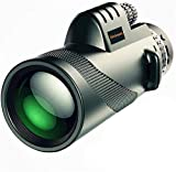 DIVINEXT 40 X 60 Outdoor Portable Monocular Telescope for Outdoor Travel, Camping, Sighting | 15.0 x 5.2 x 4.2 cm | Black