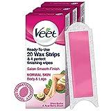 Veet Full Body Waxing Kit for Normal Skin - 20 Strips (Pack of 3)