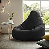Nest Bedding Bean Bag Chair Cover Without Beans for Bedroom Living Room, Office & Home - (107 x 107x 97 cm, Black, XL)