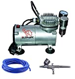 Elephant Combo Pack of Mini Air Compressor + AB 19 + PU Pipe, 3 Meter for Makeup use Cake Decorating Tattoo Face Body Painting Airbrushing.