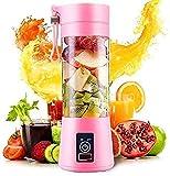 C&G INDIA Portable Usb Juice Maker Juicer Bottle Blender Grinder Mixer Rechargeable Bottle (04 blades)