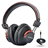 Avantree Audition Wireless Bluetooth Headphone Over the Ear with Mic, 40Hr Battery, NFC, APTX, Dual Mode wired and wireless, Deep Bass Hifi Sound.