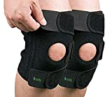 Osveta Adjustable Knee Cap Support Brace for Sports, Gym, Running, Arthritis, Joint Pain Relief, and Protection for Men and Women(pair) (free size).