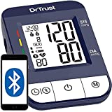 Dr Trust (USA) Digital Blood Pressure Monitor Apparatus and Testing Machine with USB Port Icheck Bluetooth Connect Most Accurate BP Checking Instrument - 118 (Blue)