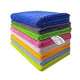 SOFTSPUN Polyester, Microfiber, Nylon Multipurpose Cloths 340 GSM (8 Piece, Multicolour)