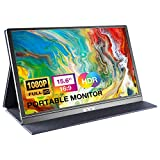 Portable Monitor - KYY 15.6Inch 1080P FHD IPS Computer Display USB-C HDMI Gaming Monitor, 85% NTSC, w/Dual Speakers, Advanced Smart Cover & Screen Protector, Second Screen for Laptop PC PS4 Xbox Phone