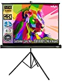 Inlight Cineview Series Tripod Type Projector Screen 7 Feet-Width x 5 Feet-Height, 100 Inches Diagonal Length, 4:3 Ratio, Comes with Tripod Stand, Supports UHD-3D-4K Technology(White)