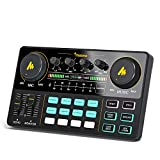 Maono AU-AM200 Audio Interface with DJ Mixer and Sound Card, ALL-IN-ONE Podcast Production Studio for Guitar, Microphone, Youtube Streaming, PC, Recording Studio and Gaming