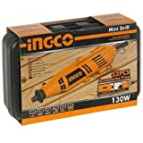 INGCO KROST Mini Die Grinder Rotary Tool Kit with Accessories, 52pcs and Variable Speed for Drilling, Sanding, Buffing, Polishing, Engraving, 130W