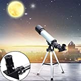 Lukzer 1PC Outdoor HD Monocular Space Telescope Astronomical 90X Refractive Telescope with Portable Travel Tripod
