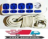 SHREEJIIH Electricals Surge Protection Extension Cord Board 8 sockets with 10 m Long Cable (White)