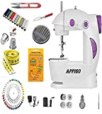 Appigo Sewing Machine for Home Tailoring Use with Foot Pedal, Adapter and Sewing Kit Accessories - Multicolor