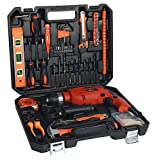 IBELL IBL TD13-100, 650W Professional Tool Kit (Red) Pack of 115