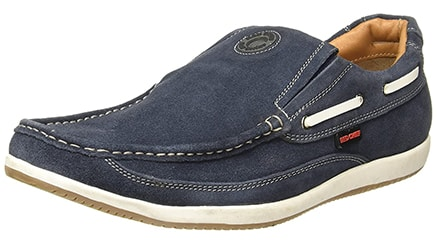 Red Chief Men's Blue Leather Casual Shoes