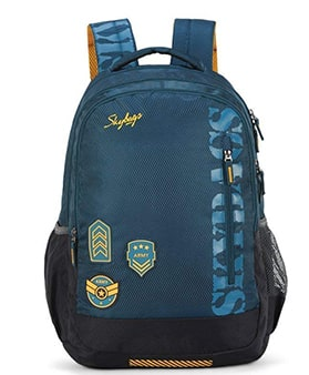skybags blue spacious backpack
