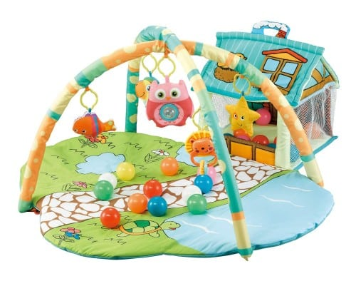 R for Rabbit First Play Baby Gym Mat with Hanging Toys and Piano