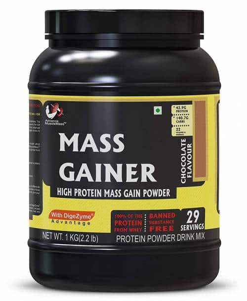 Advance MuscleMass Mass Gainer with Enzyme Blend